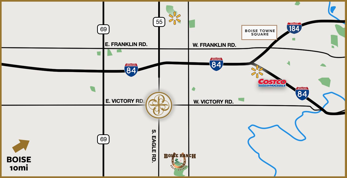 Map to Senior Living Community in Meridian ID