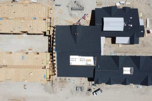 Satellite View of Construction of The Pointe at Meridian Senior Living Community in Meridian, Idaho