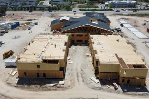 Side Aerial Photo of Construction of Senior Community in Meridian, Idaho